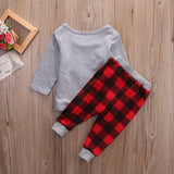 2pcs Unisex Kids Christmas Tree Top T-shirt and Pant Clothes - Kawaii Treats
