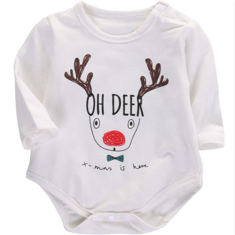 Christmas Romper Deer Kiddie Jumpsuit - Kawaii Treats