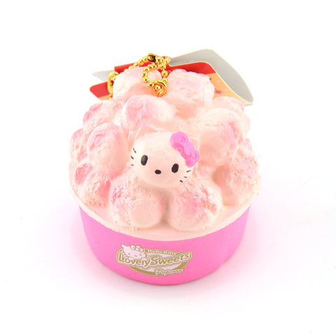 Hello Kitty Popcorn Squishy Ballchain - Kawaii Treats