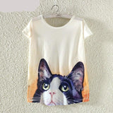 Girls Short Sleeve T-Shirt Animal Print Harajuku - Kawaii Treats