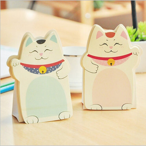 Lucky Cat Mini Planner Sticky Notepad - Kawaii Treats