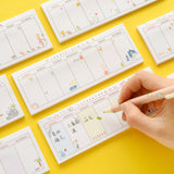 Nature Inspired Weekly Plan Sticky Note - Kawaii Treats