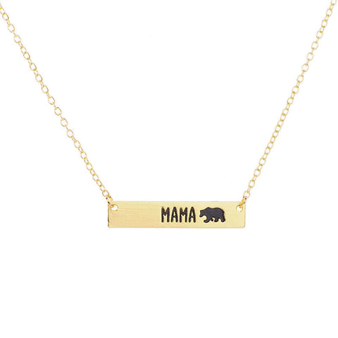 Handmade Mama Lovely Bear Necklace - Kawaii Treats