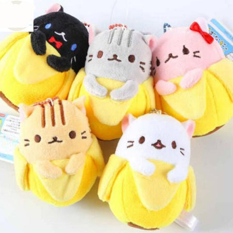 Soft Banana Cat Plush key Chain Toy - Kawaii Treats
