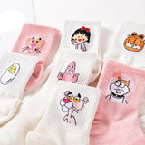 Cutie Animal Printed Cotton Long Socks <7 Designs> - Kawaii Treats