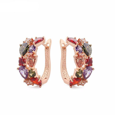 Multi-color Zirconia Fashion Earrings - Kawaii Treats