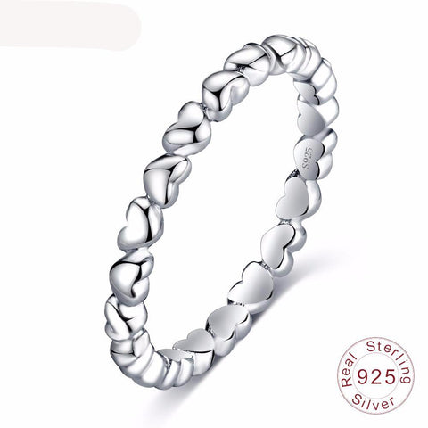 Solid Sterling Silver Forever Love Finger Ring Fine Jewelry for Women - Kawaii Treats