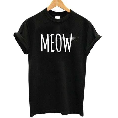 Meow Short Sleeve Ladies T-Shirt <16 Designs> - Kawaii Treats