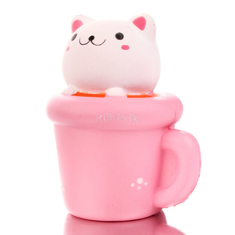 Scented Bread Cake Pussy Cat Squishy - Kawaii Treats