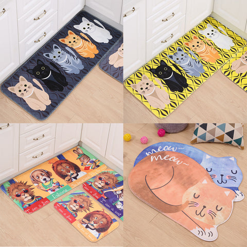 Cutie Animal Printed Welcome Floor Mats - Kawaii Treats