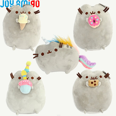 Pusheen Snackable Plush With Cookie/ Donut/Ice Cream/Happy Birthday Cupcake Stuffed Animal  -Soft Cat Kitty Plushies 15CM/6inch - Kawaii Treats