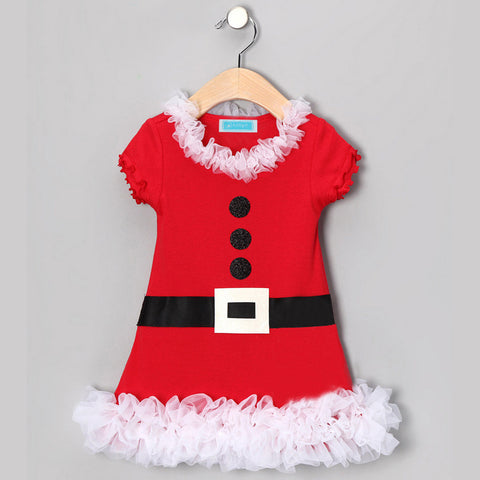 Christmas Children Lace Red Tutu Dress for Girls - Kawaii Treats