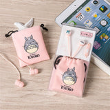 Cutie Totoro Earphone Earbuds With Earphone Case - Kawaii Treats