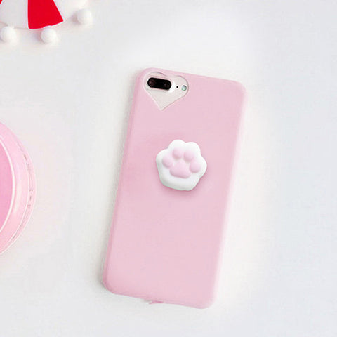Pink Paw Squishy Case - Kawaii Treats