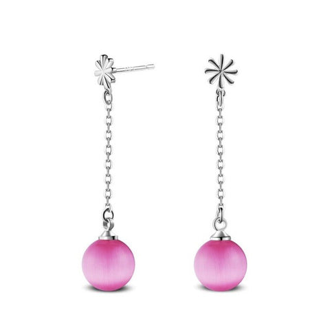 Pearl Ball Drop Dangle Earrings - Kawaii Treats