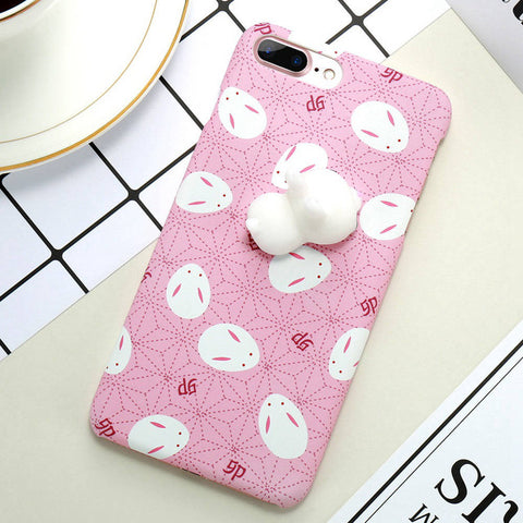 Rabbits Pink Squishy Case - Kawaii Treats