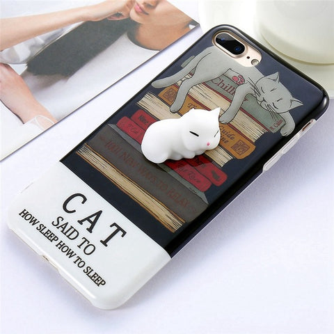 Cat on Books Squishy Case - Kawaii Treats
