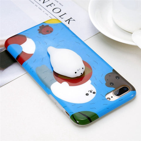 Seal in Water Squishy Case - Kawaii Treats