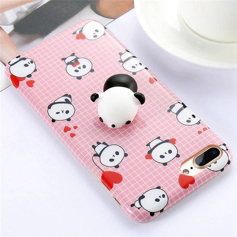 Panda Pink Squishy Case - Kawaii Treats