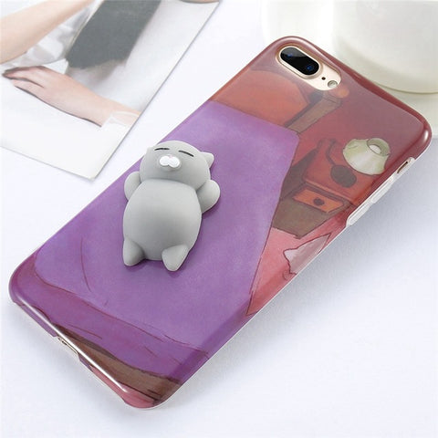 Cat on Bed Squishy Case - Kawaii Treats