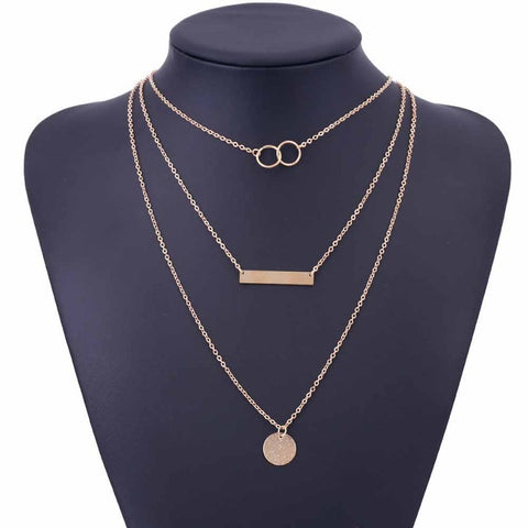 Gold Silver Choker Necklace For Women