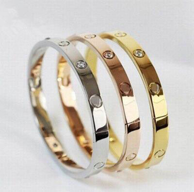 Rose Gold Stainless Steel Crystal Forever Love Ladies Bracelet - Kawaii Treats