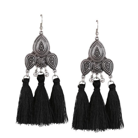 Retro Brand Bohemian Long Tassel Earrings - Kawaii Treats