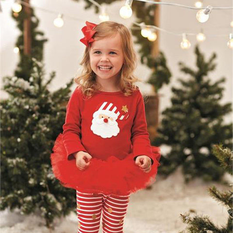 Christmas Santa Toddler Tutu Set Outfit - Kawaii Treats