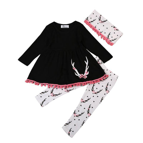 Black Tassel Long Sleeve Christmas Outfit - Kawaii Treats