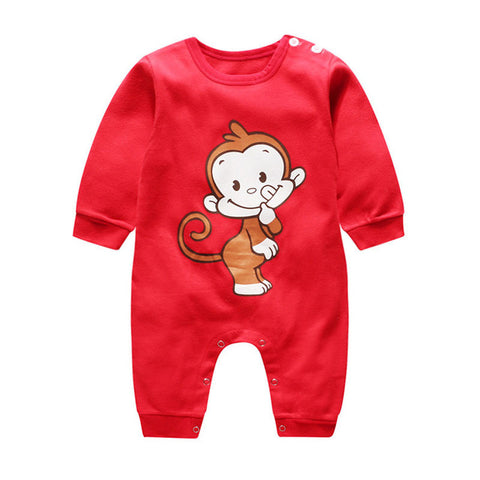 Printed Cutie Warm Jumpsuit for Christmas - Kawaii Treats