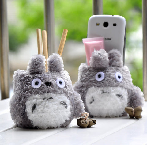 Plush Totoro Stand Holder Pouch - Kawaii Treats