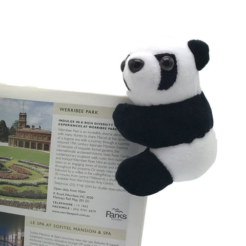 Lovely Book Clamp Toy Stuffed Panda - Kawaii Treats