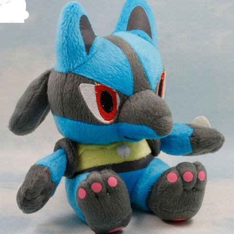 Stuffed Lucario Plush Toy - Kawaii Treats