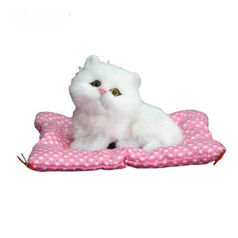 Sounding Sleeping Kitty Plush Stuffed Toy