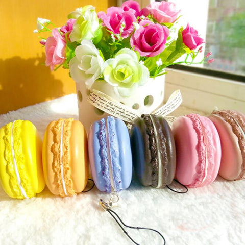 Squishy Tasty Artificial Macaroons Toy - Kawaii Treats