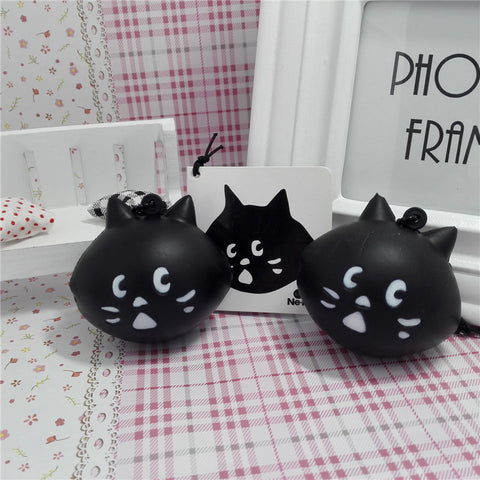 Cute Black Cat Stress Release Toy - Kawaii Treats