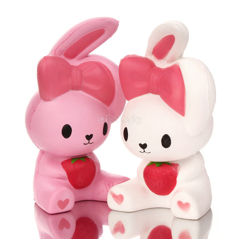 Cute White and Pink Bunnies Squishy Toy - Kawaii Treats