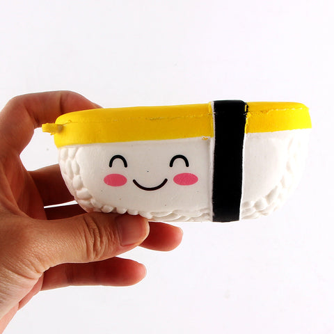 Yushi Sushi Rice Ball Squishy Toy - Kawaii Treats