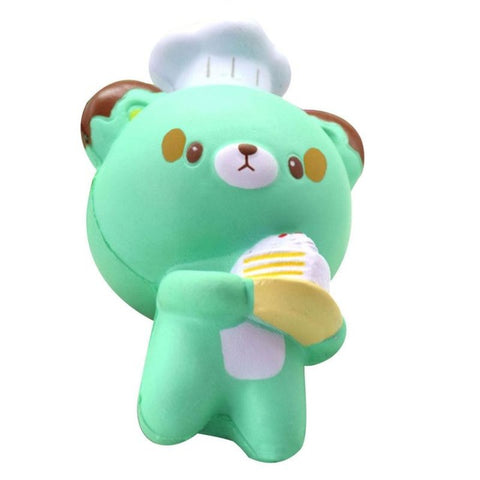 Cute Pastry Chef Bear Squishy
