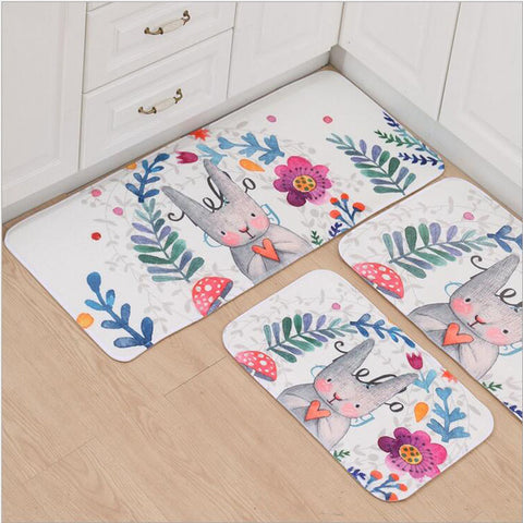Printed Kawaii Bathroom Door Mats - Kawaii Treats