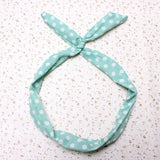 Dotted Bunny Ear Scarf Bow Knot Tie  Headband