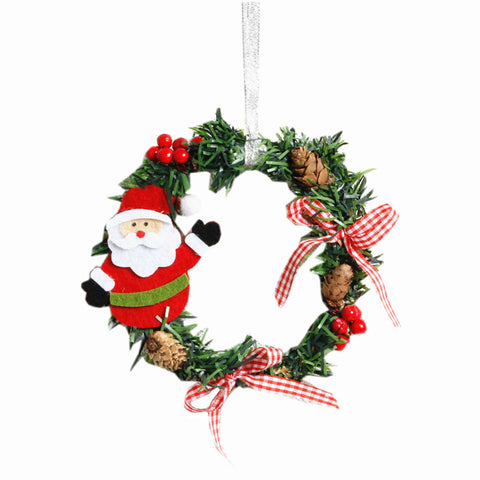 2PCS Christmas Ornaments Wreath Ring Santa Claus - Kawaii Treats