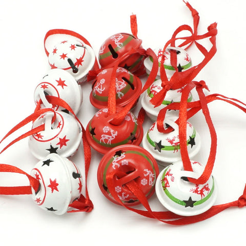 12pcs Christmas Tree Decor Star Metal Small Bells - Kawaii Treats