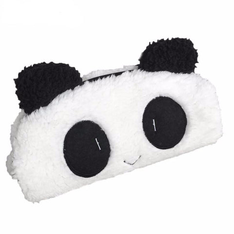 Panda Fur Pencil Case - Kawaii Treats