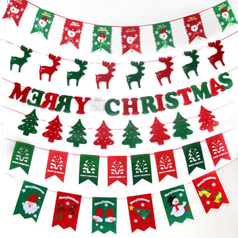 8 PCS Christmas Buntings Home Decoration