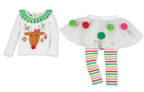 Girls Christmas Kiddie Deer Outfit - Kawaii Treats