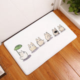 Flannel anti-slip mats animal printed Rectangular Mat <19 designs> - Kawaii Treats