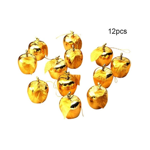 12pcs/set Christmas Tree Apple Ornaments