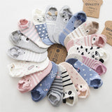 Animal Printed Cotton Socks <15 Designs>