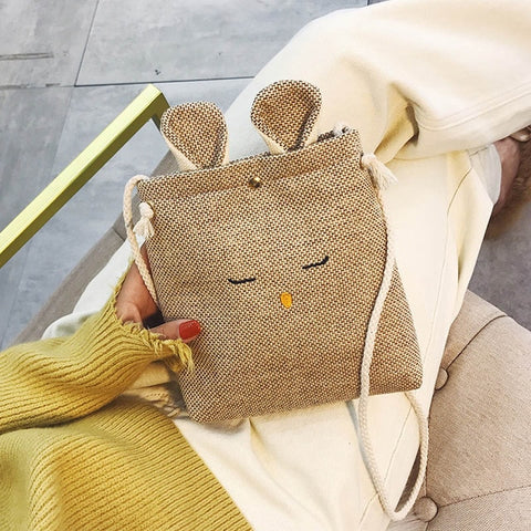 Cute rabbit Shoulder Crossbody Bags